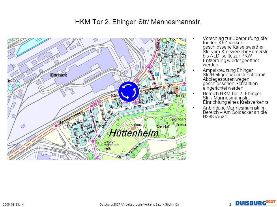 HKM Tor 2. Ehinger Str/ Mannesmannstr.