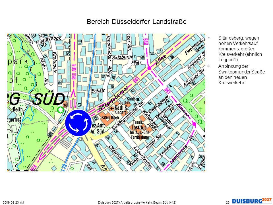 Bereich Düsseldorfer Landstraße