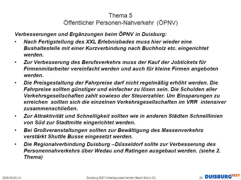 Thema 5 Öffentlicher Personen-Nahverkehr (ÖPNV)