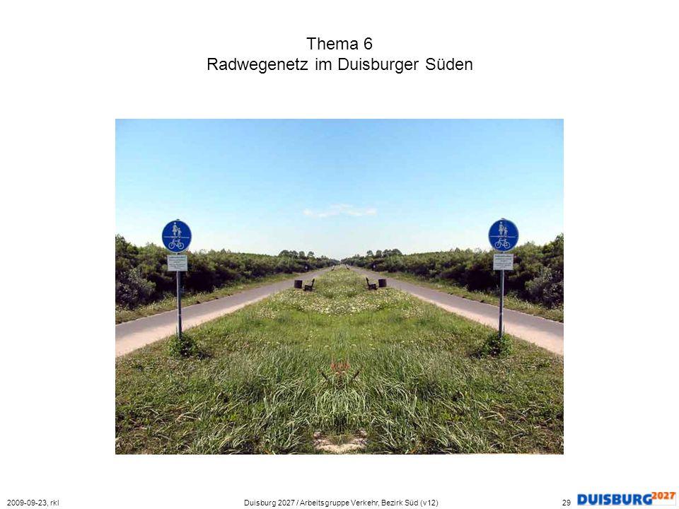 Thema 6 Radwegenetz im Duisburger Süden