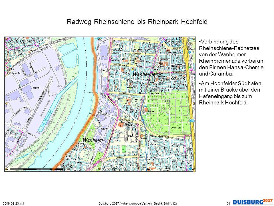 Radweg Rheinschiene bis Rheinpark Hochfeld