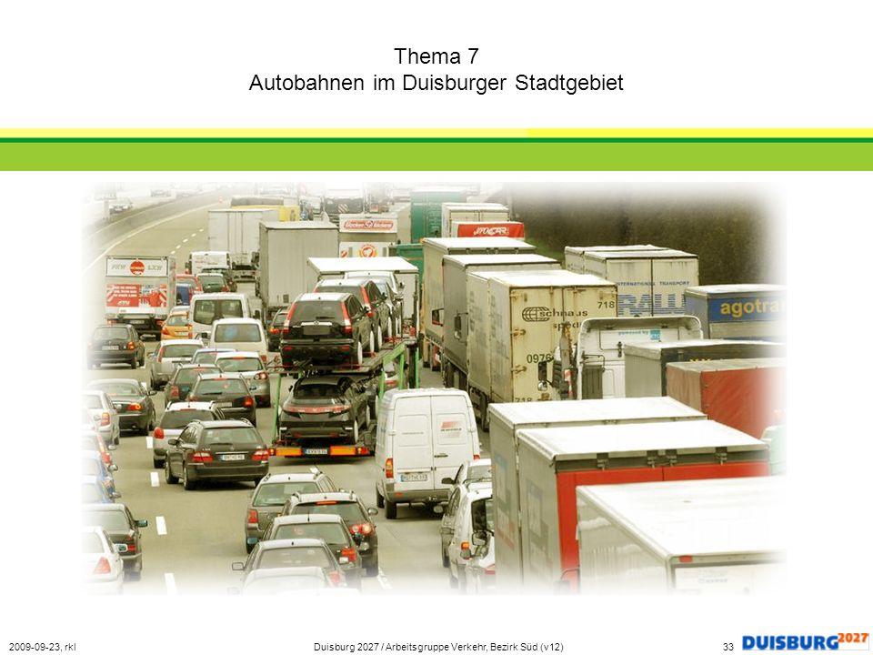 Thema 7 Autobahnen im Duisburger Stadtgebiet