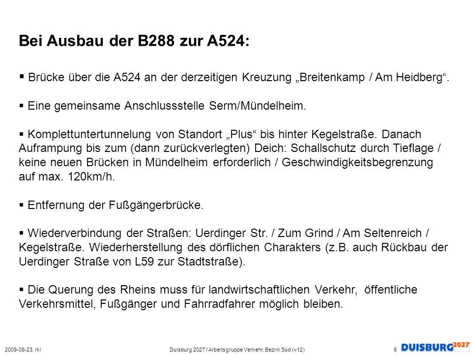 Duisburg 2027 / Arbeitsgruppe Verkehr, Bezirk Süd (v12)