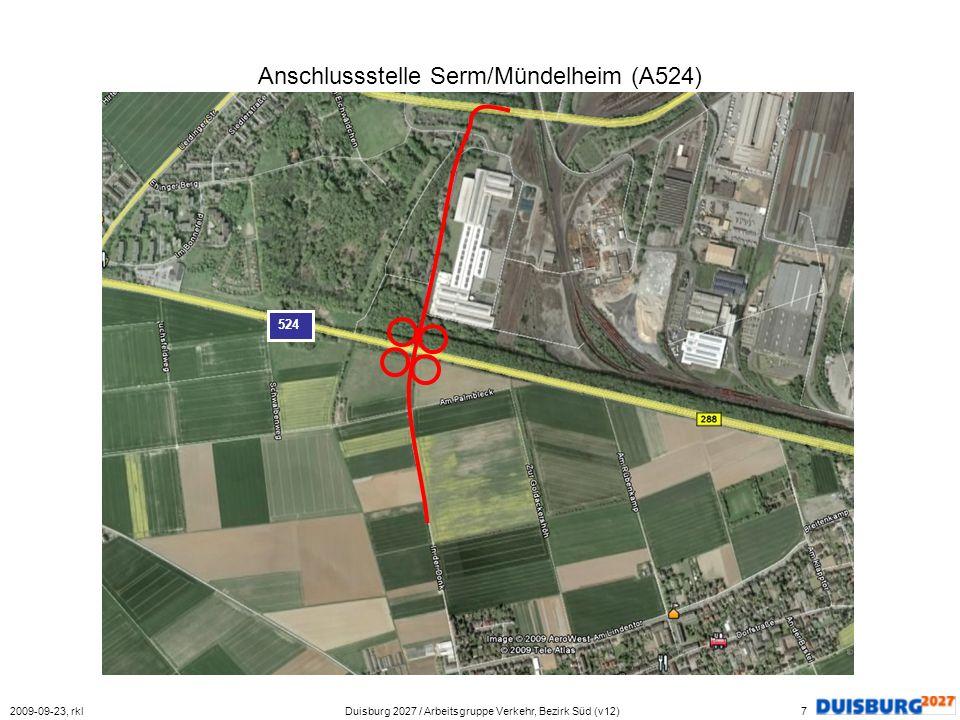 Anschlussstelle Serm/Mündelheim (A524)