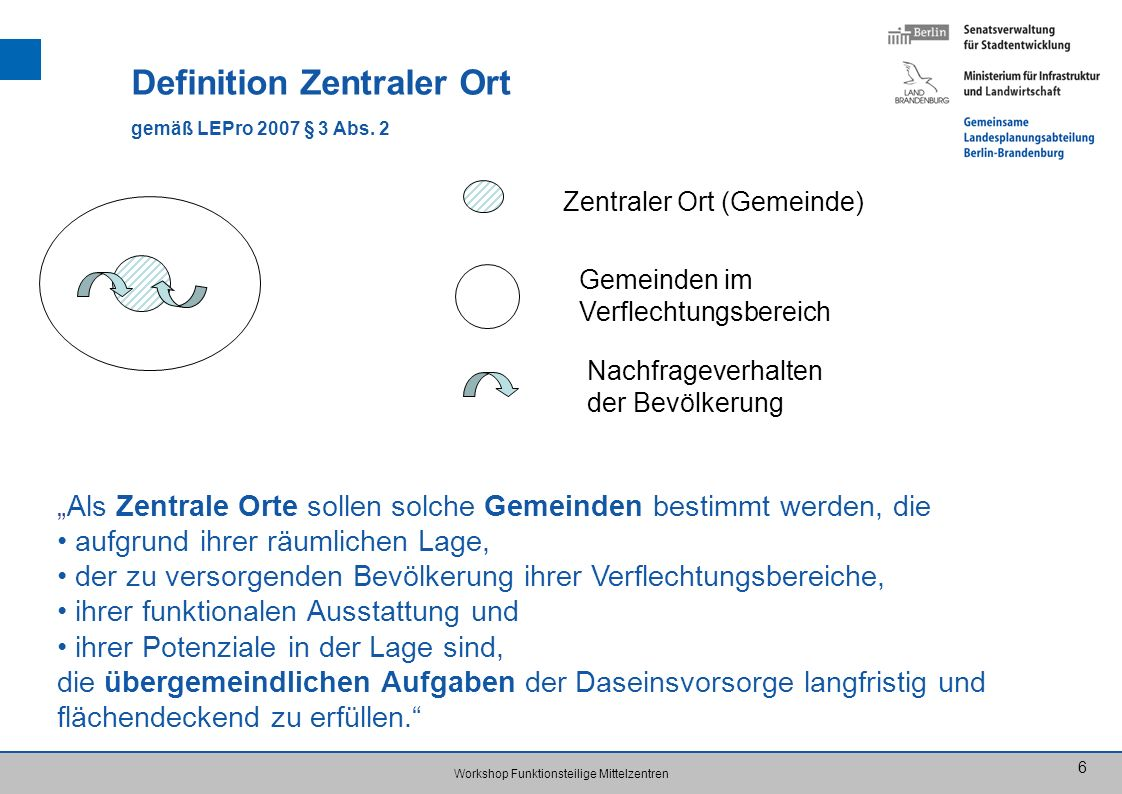 Definition Zentraler Ort