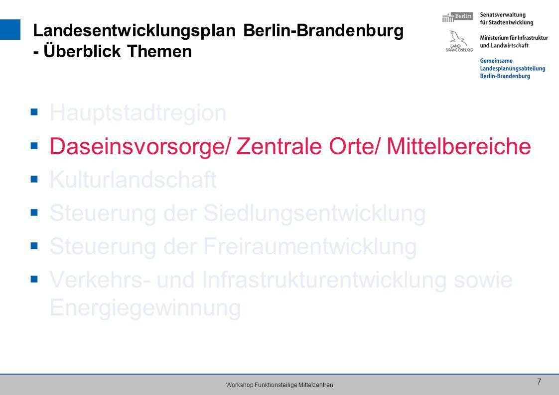 Landesentwicklungsplan Berlin-Brandenburg - Überblick Themen
