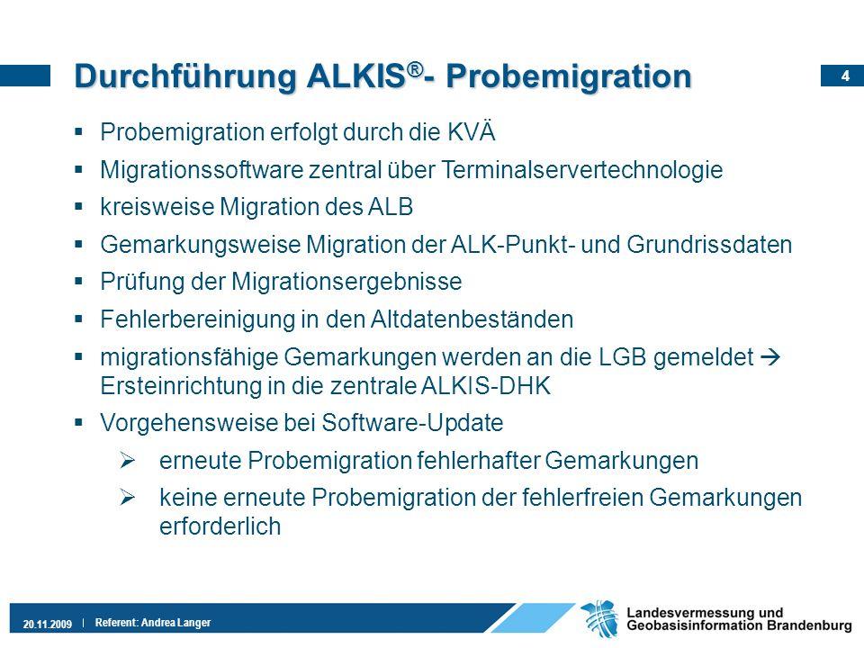 Durchführung ALKIS®- Probemigration