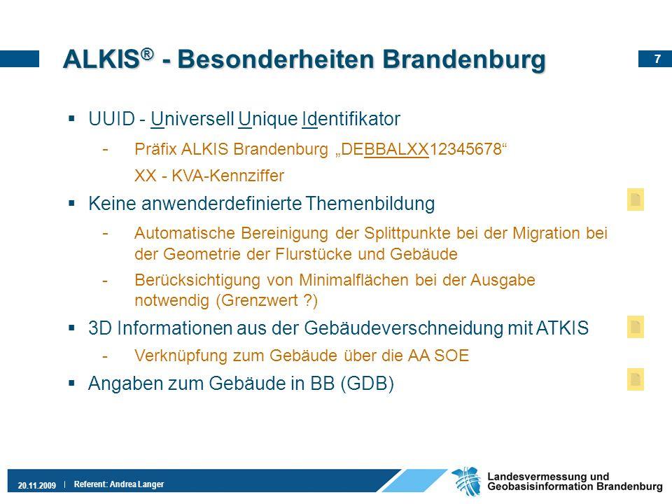 ALKIS® - Besonderheiten Brandenburg