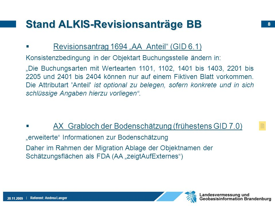 Stand ALKIS-Revisionsanträge BB
