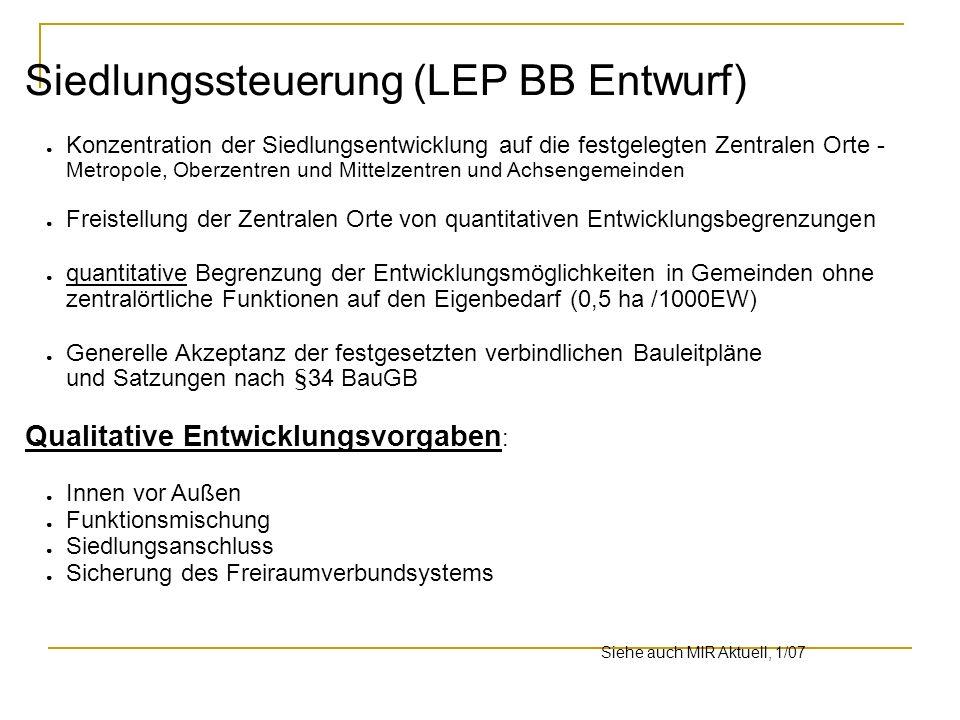 Siedlungssteuerung (LEP BB Entwurf)