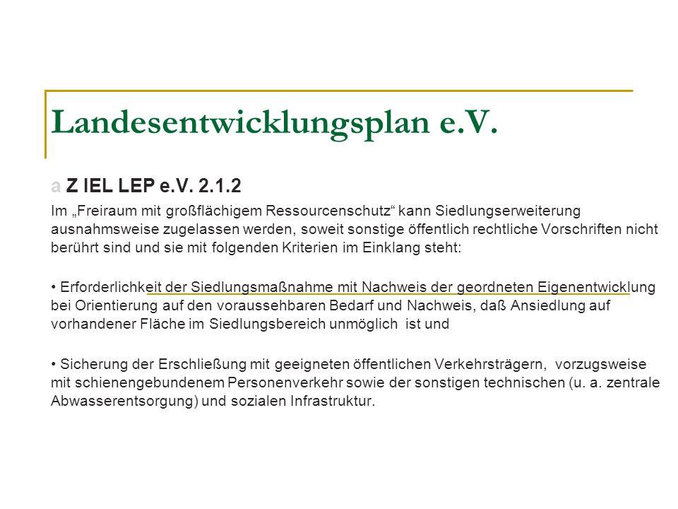 Landesentwicklungsplan e.V.