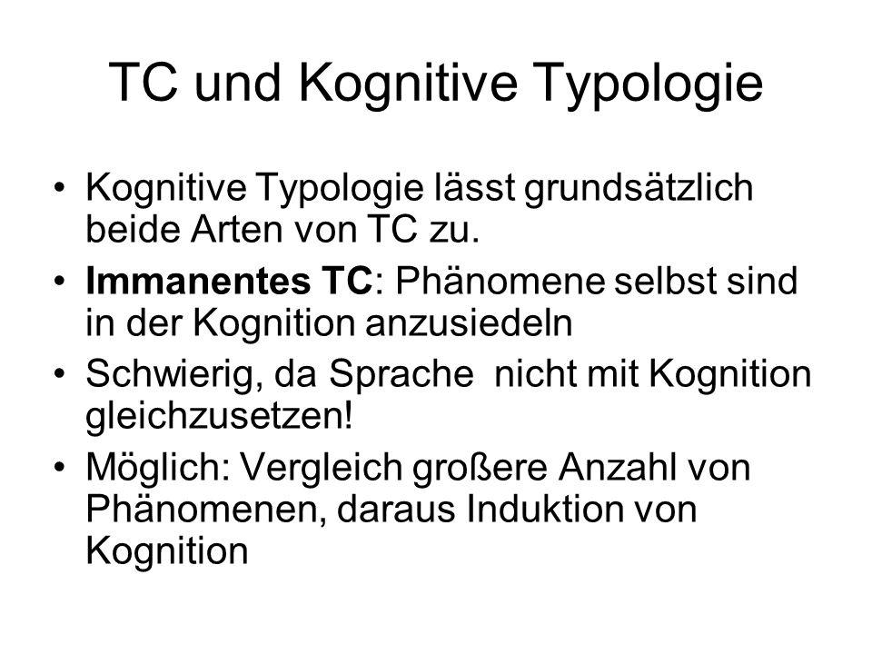 TC und Kognitive Typologie