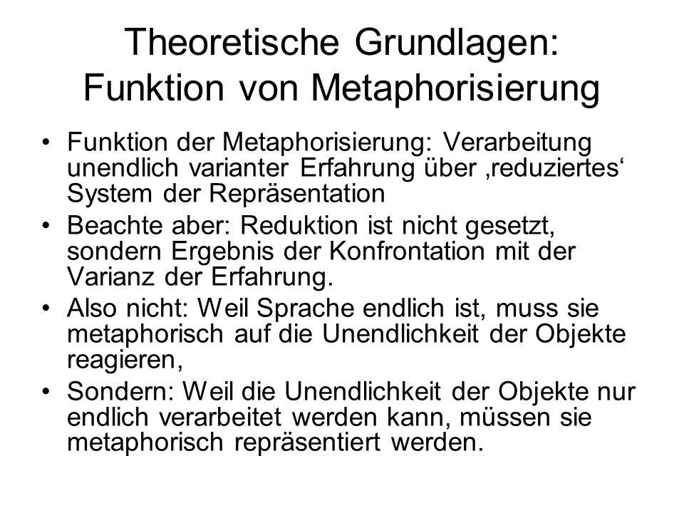 Theoretische Grundlagen: Funktion von Metaphorisierung