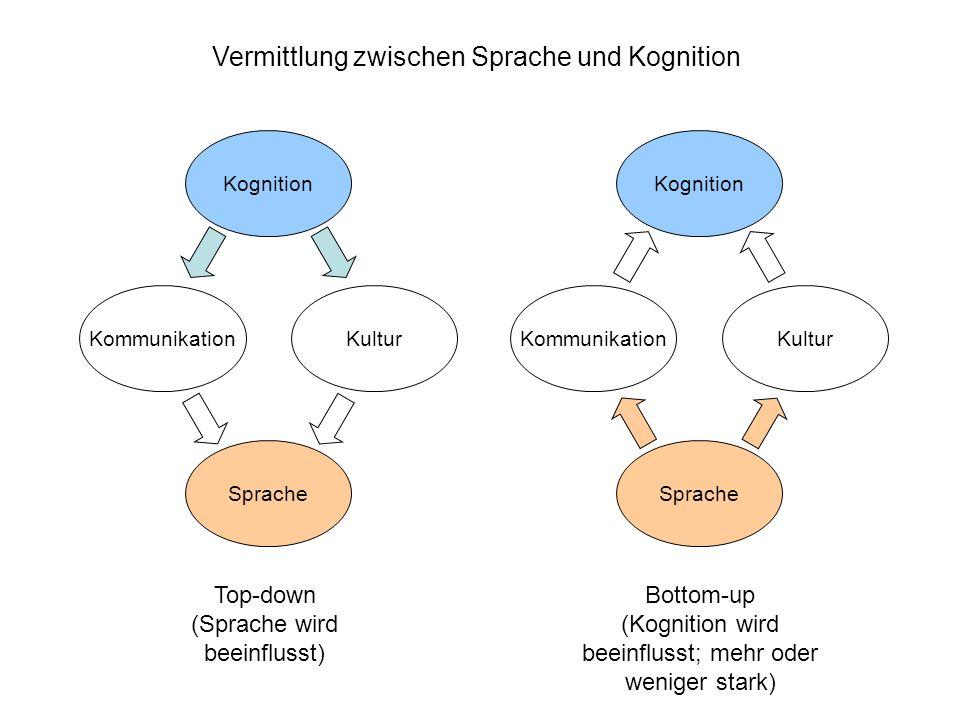 Vermittlung zwischen Sprache und Kognition