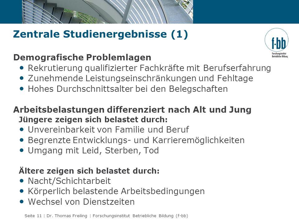 Zentrale Studienergebnisse (1)