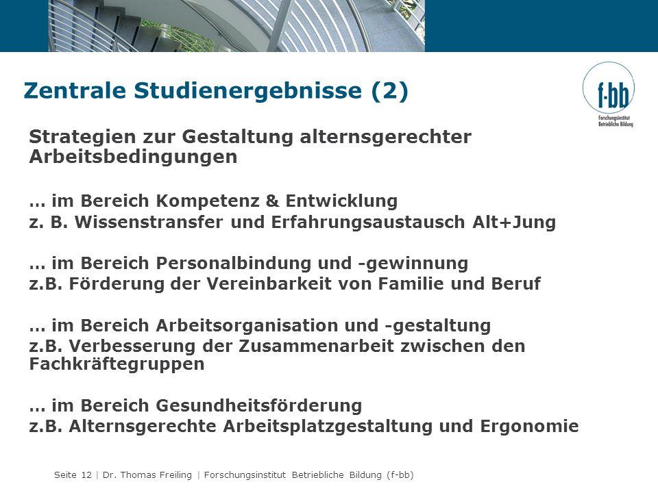 Zentrale Studienergebnisse (2)