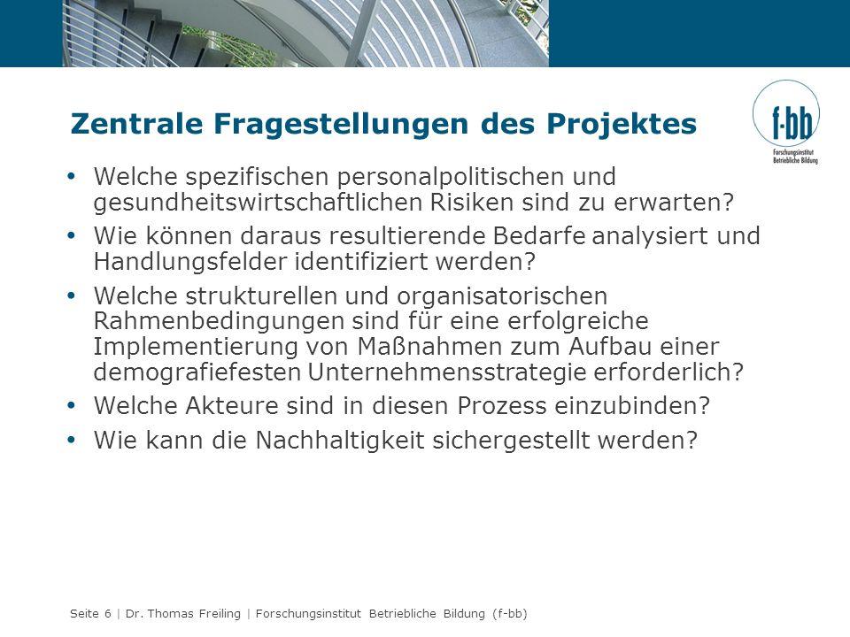 Zentrale Fragestellungen des Projektes