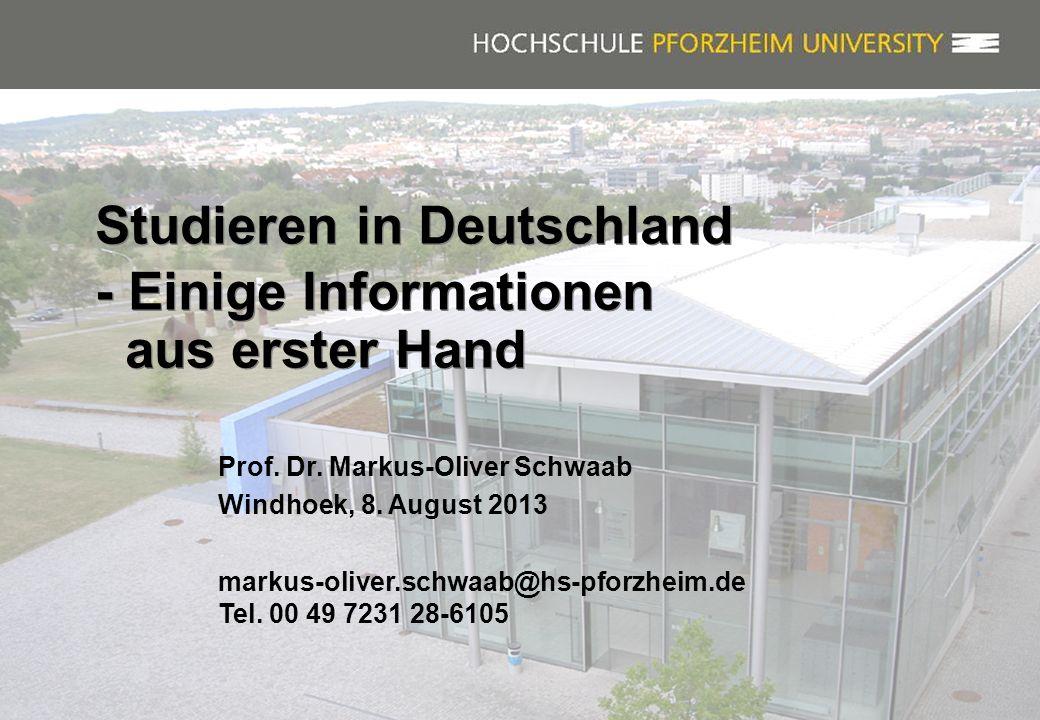Studieren in Deutschland - Einige Informationen aus erster Hand