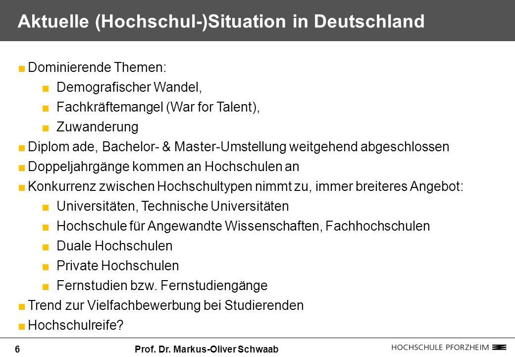 Aktuelle (Hochschul-)Situation in Deutschland