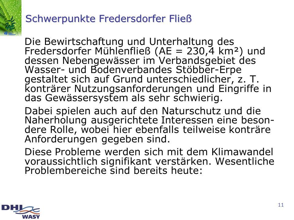 Schwerpunkte Fredersdorfer Fließ
