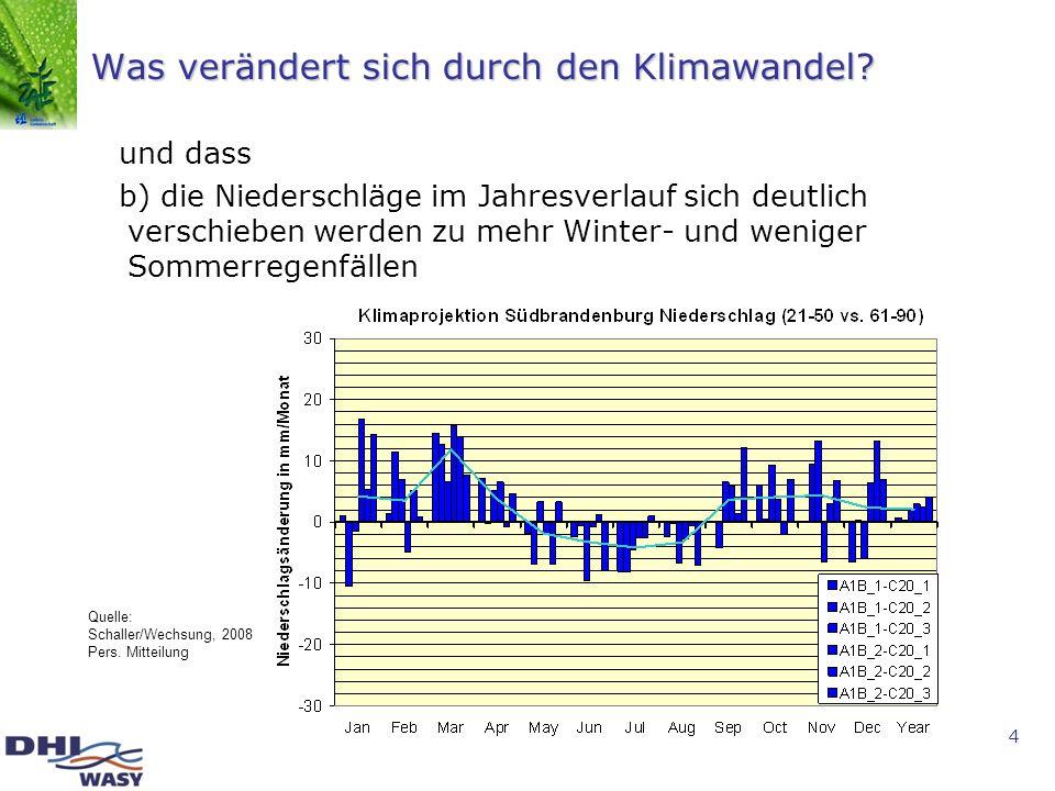 Was verändert sich durch den Klimawandel
