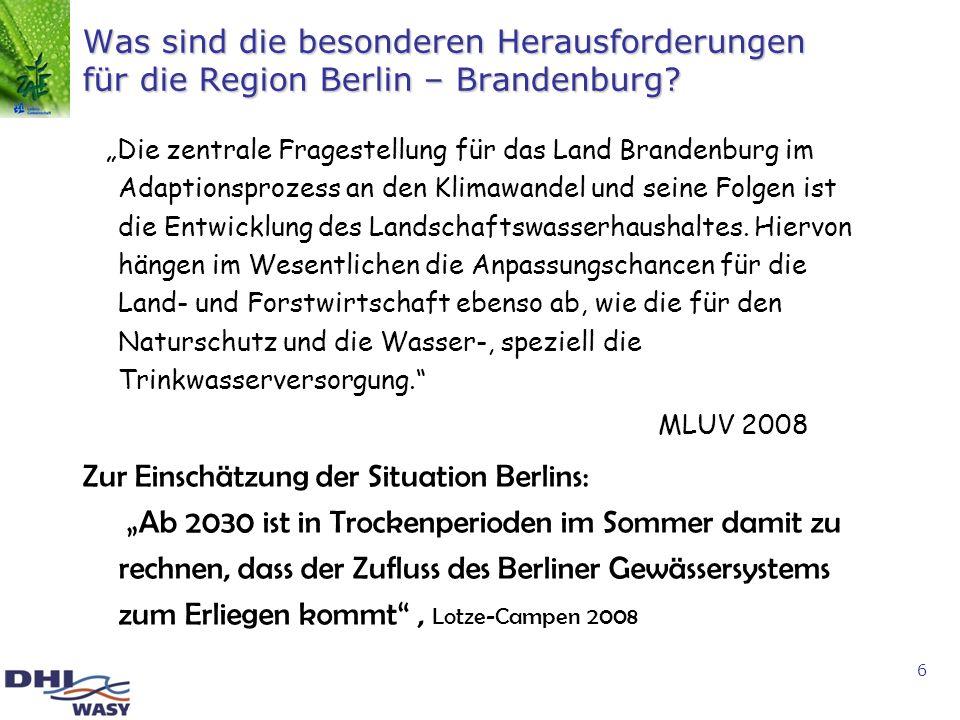 Was sind die besonderen Herausforderungen für die Region Berlin – Brandenburg