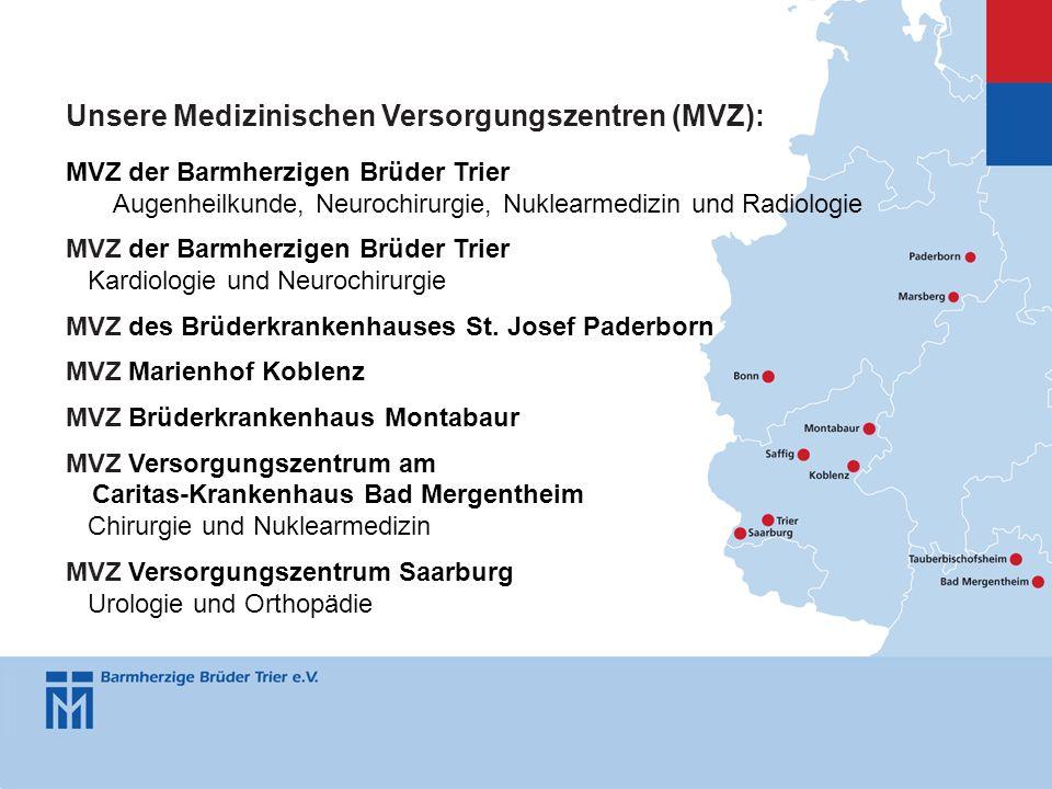 Unsere Medizinischen Versorgungszentren (MVZ):