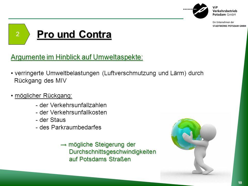 Pro und Contra Argumente im Hinblick auf Umweltaspekte: 2