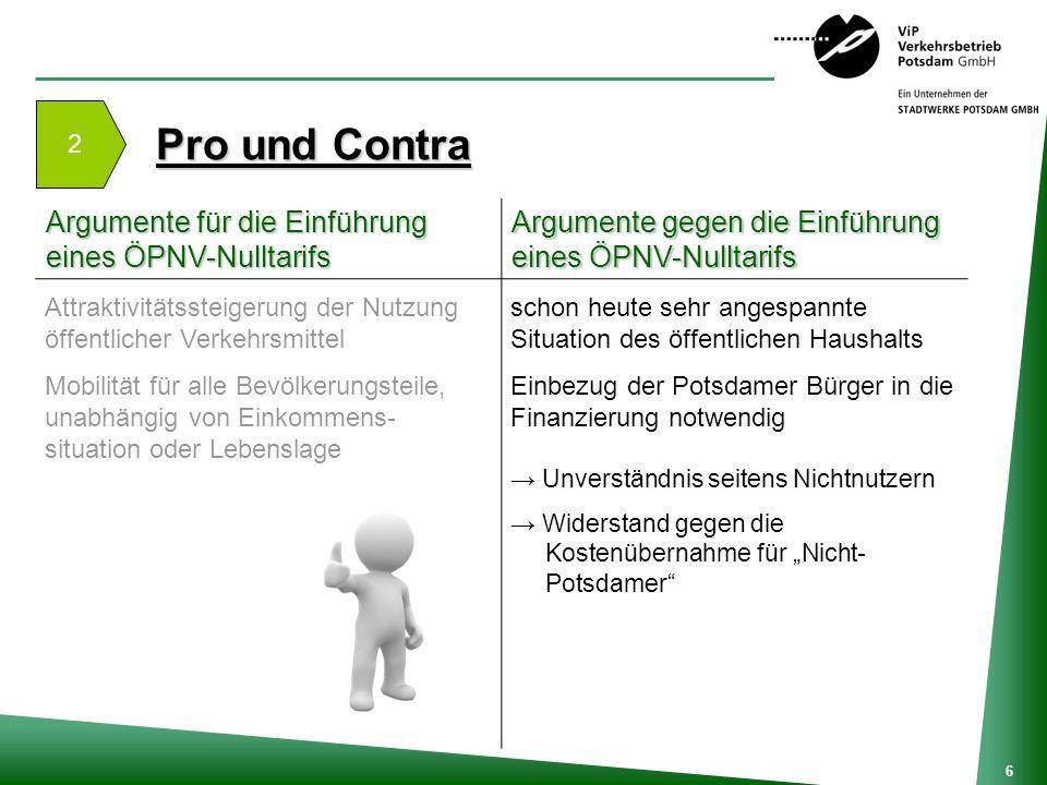 Pro und Contra Argumente für die Einführung eines ÖPNV-Nulltarifs