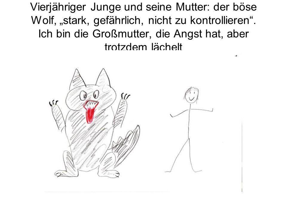 """Vierjähriger Junge und seine Mutter: der böse Wolf, """"stark, gefährlich, nicht zu kontrollieren ."""