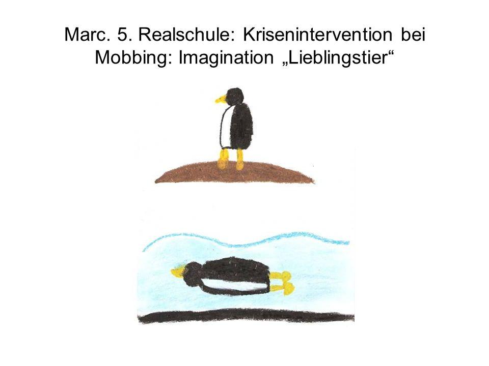 "Marc. 5. Realschule: Krisenintervention bei Mobbing: Imagination ""Lieblingstier"