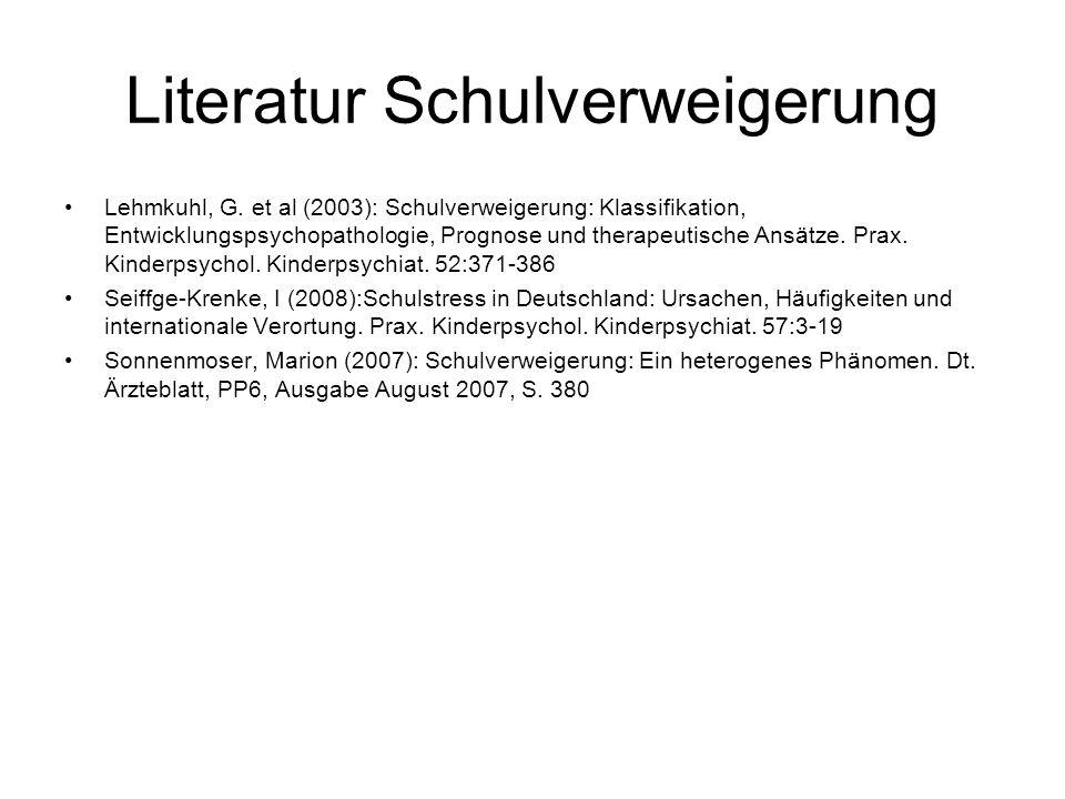 Literatur Schulverweigerung