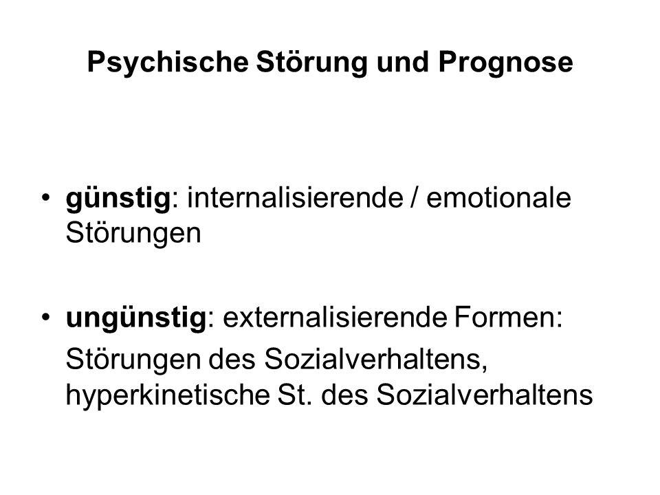 Psychische Störung und Prognose