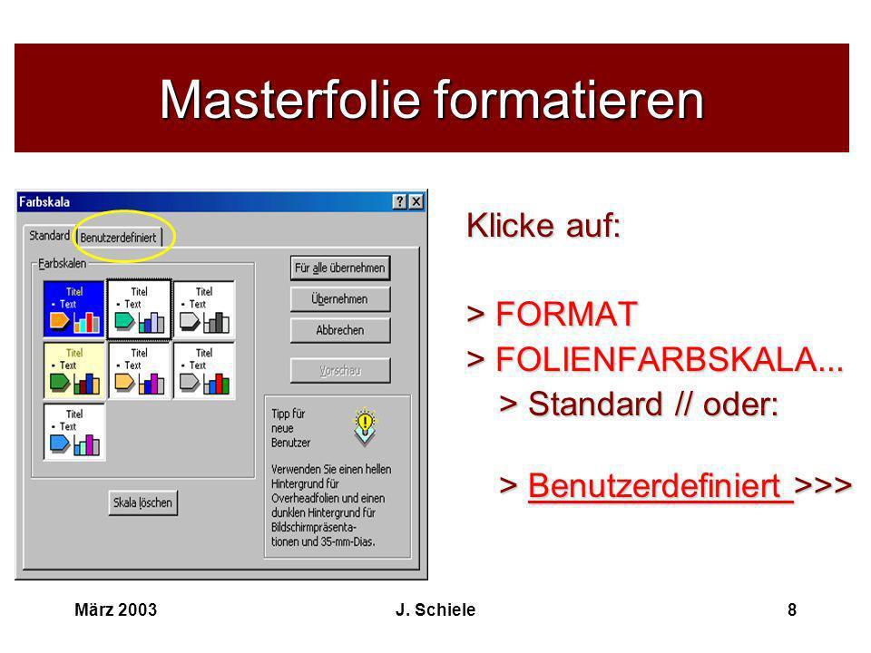 Masterfolie formatieren