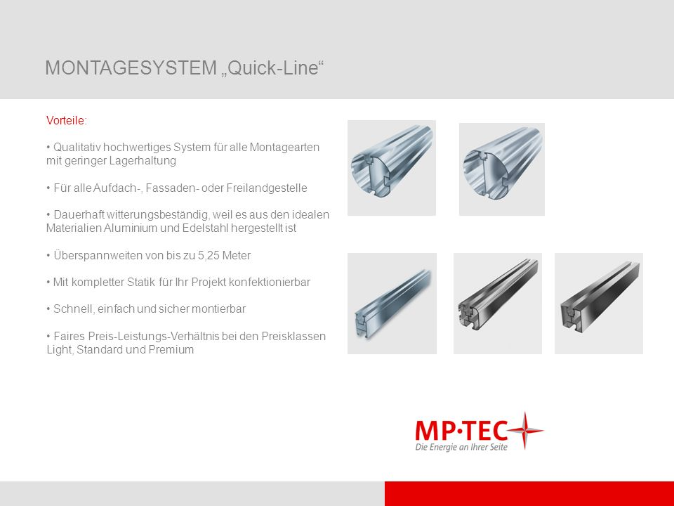 "MONTAGESYSTEM ""Quick-Line"
