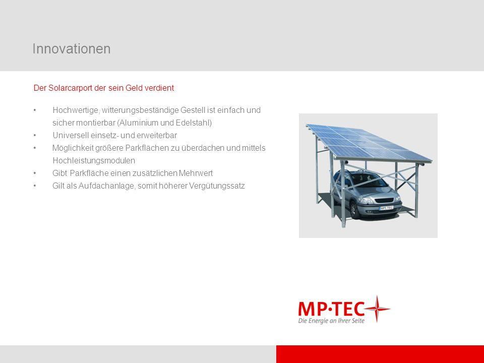 Innovationen Der Solarcarport der sein Geld verdient