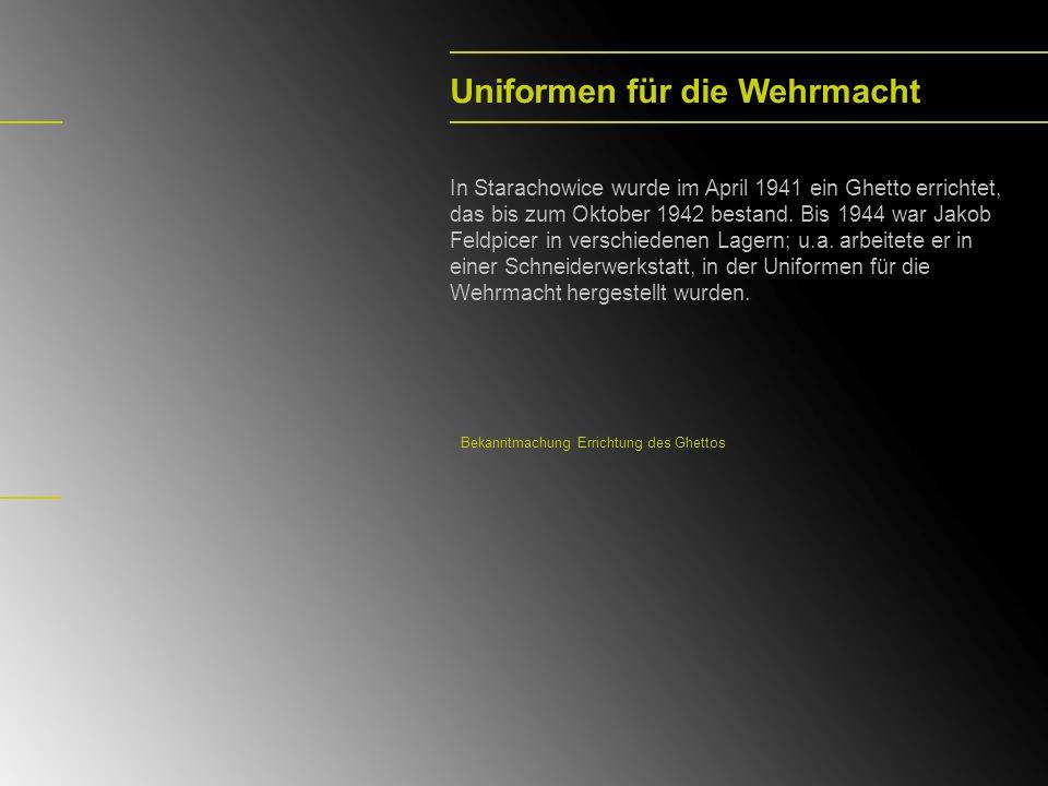 Uniformen für die Wehrmacht