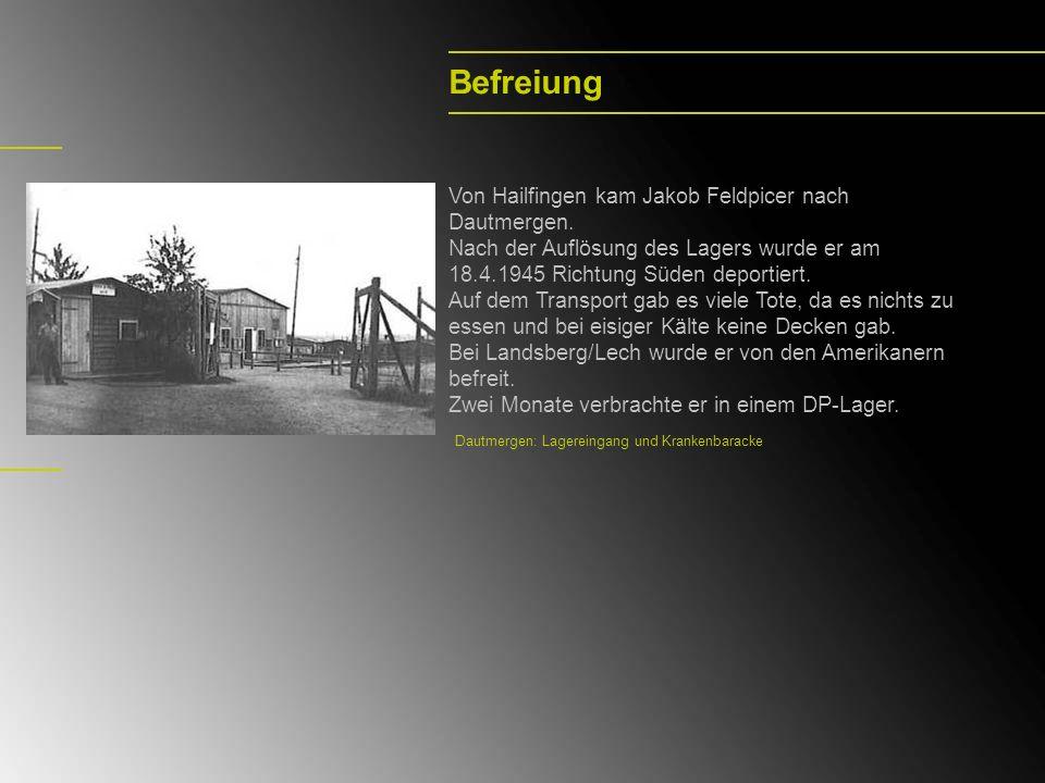 Befreiung Von Hailfingen kam Jakob Feldpicer nach Dautmergen.