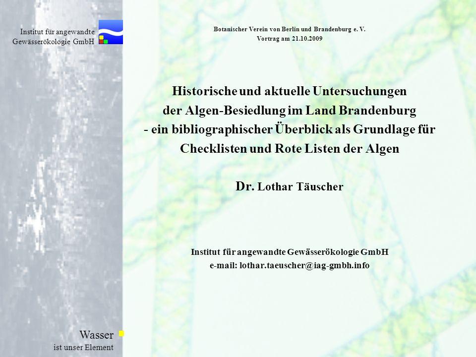 Botanischer Verein von Berlin und Brandenburg e. V. Vortrag am 21. 10
