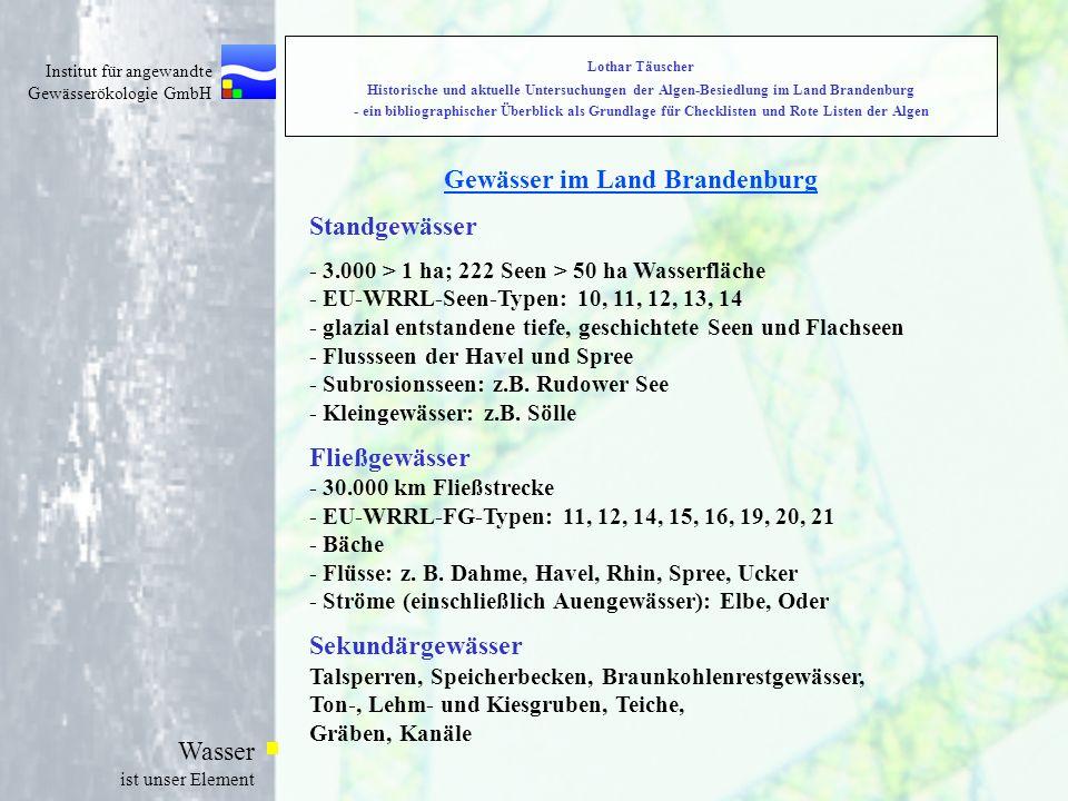Gewässer im Land Brandenburg