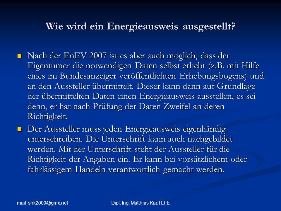 Wie wird ein Energieausweis ausgestellt