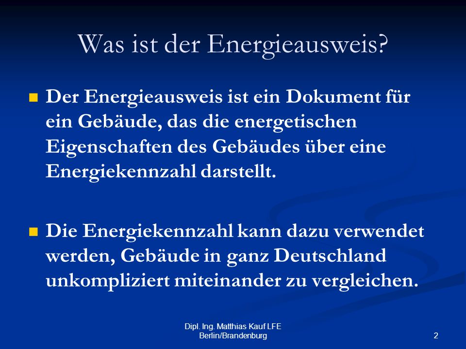 Was ist der Energieausweis