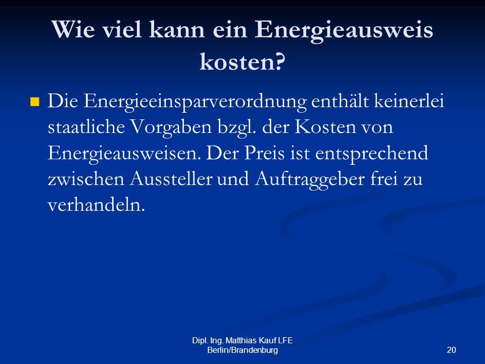 Wie viel kann ein Energieausweis kosten
