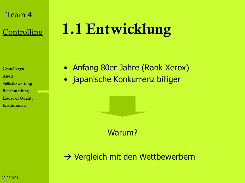1.1 Entwicklung Anfang 80er Jahre (Rank Xerox)