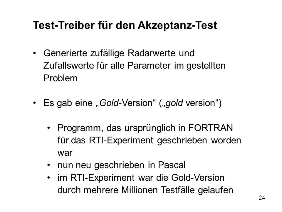 Test-Treiber für den Akzeptanz-Test