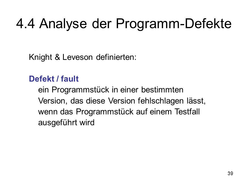 4.4 Analyse der Programm-Defekte
