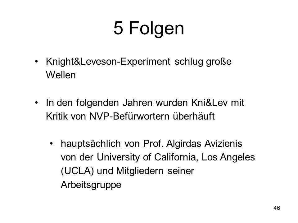 5 Folgen Knight&Leveson-Experiment schlug große Wellen