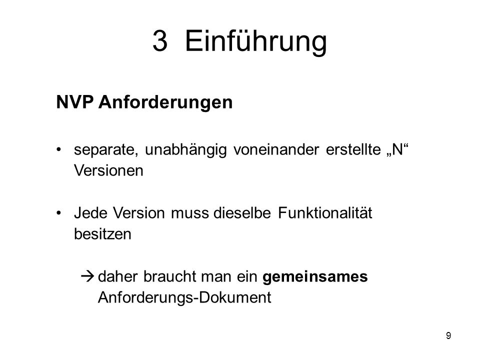 3 Einführung NVP Anforderungen