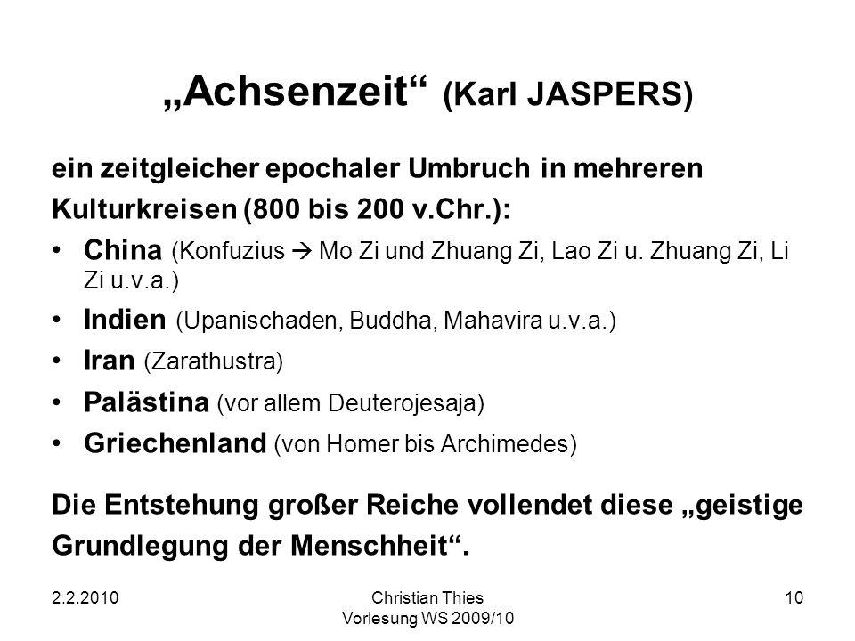 """""""Achsenzeit (Karl JASPERS)"""