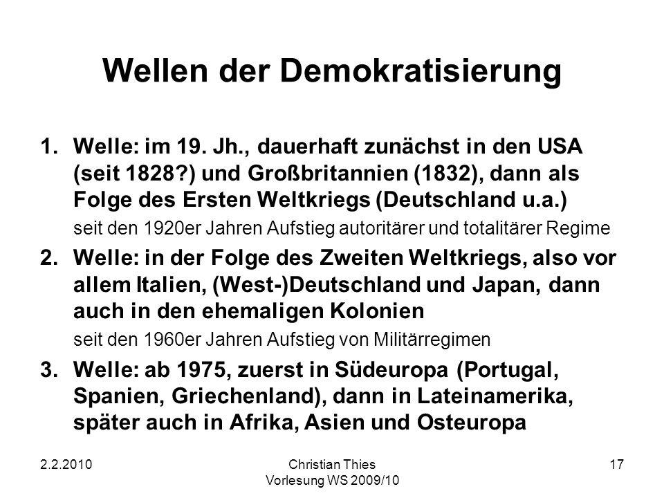 Wellen der Demokratisierung
